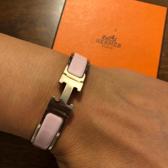 Hermes Jewelry   Auth Clic Clac Bracelet Pm Ph Blush Pink   Poshmark 0299ad7d90b